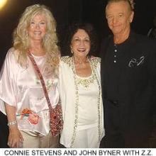 With Connie Stevens and Vegas columnist Z.Z. Zorn.
