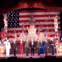with Cast in Branson Follies, Missouri